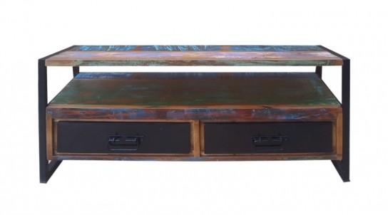 Retro Möbel Lowboard 107x56x40cm Massiv