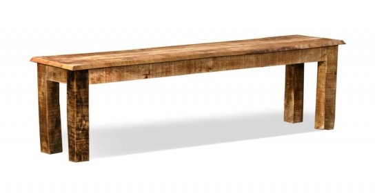 Massivholz Möbel Bank 180x38x45cm