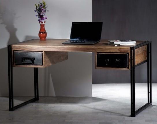 Mangoholz Möbel Schreibtisch 150x76x80cm Massiv