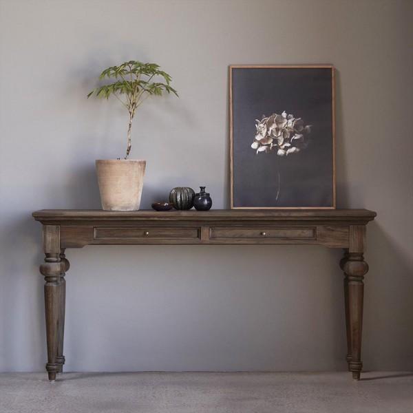 Tisch Konsole Garderobe Natur Teakholz 140x40x80cm Massiv
