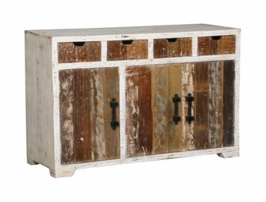 Shabby Chic Möbel Kommode 150x85x40cm Massiv