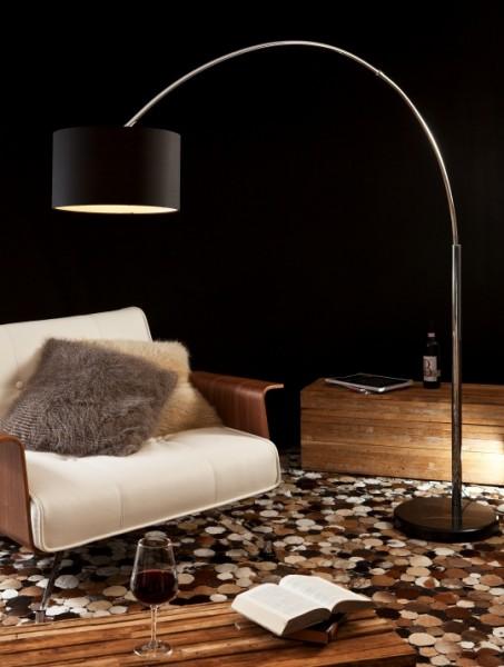 Bogenlampe schwarz 210cm
