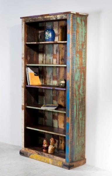 Vintage Möbel Regal 96x200x35cm Massivholz