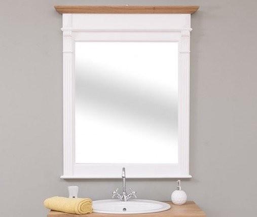 Spiegel Weiß Natur Kiefernholz 93x111x10