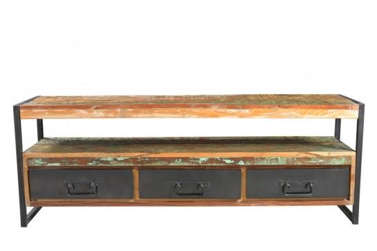 Vintage Massivholz Lowboard 155x55x40cm