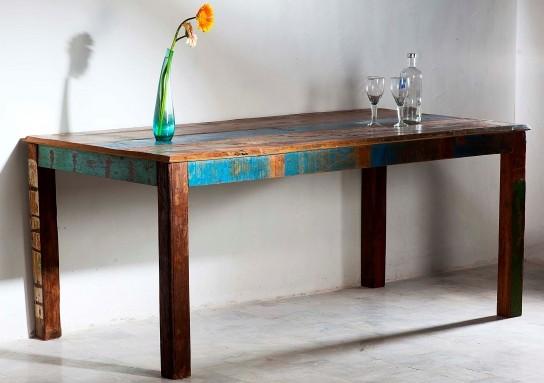 Vintage Möbel Tisch Esstisch 100x200cm Massiv