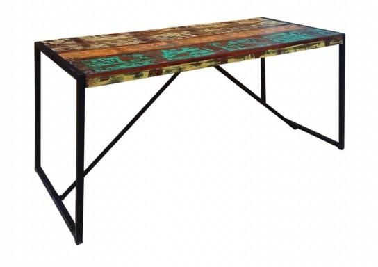 Vintage Möbel Metall Tisch 165x76x70cm Massiv
