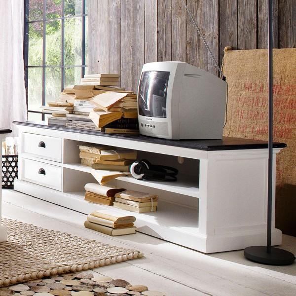 TV Lowboard Weiß 180x45x45cm Massiv