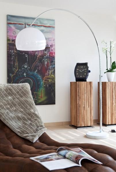 Moderne Bogenlampe 208cm weiß