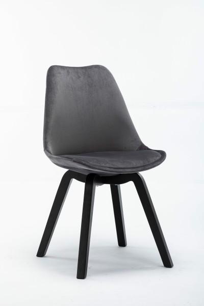 4x Stuhl aus massivem Holz Anthrazit 48x83x54cm