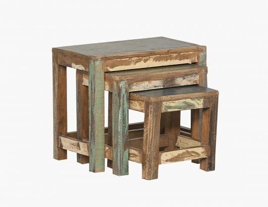 Vintage Möbel Tisch Set 60x50x35cm bestehend aus 3 Tischen