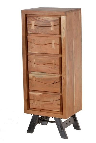 Vintage Akazienholz Kommode 45x121x35cm Massiv