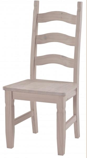 Mexico 2x Stuhl weiss gewachst 49x107x52cm