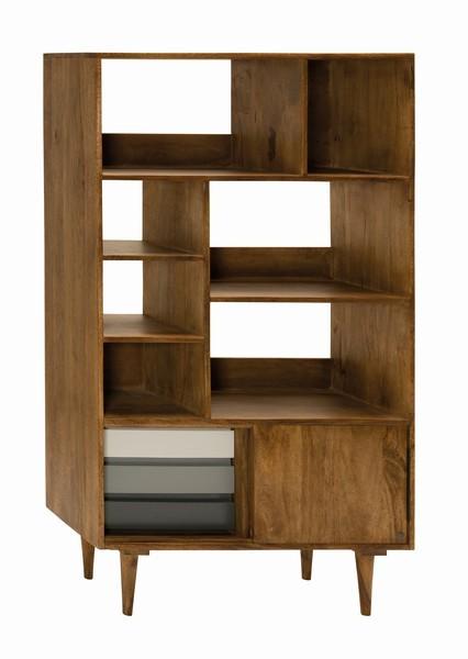 Massivholz Möbel Regal 90x160x39cm Mangoholz