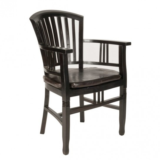 6er Set Kolonial Möbel Sessel 55x95x55cm Massiv