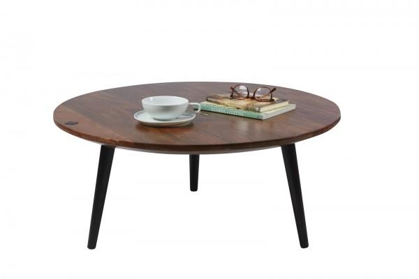 Massivholz Möbel Couchtisch 80x35x80cm Mangoholz