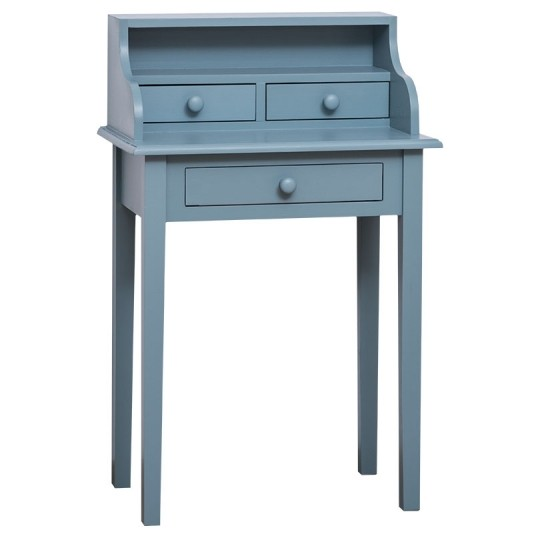 Schreibtisch Blau Kiefernholz Massiv 65x102x40cm