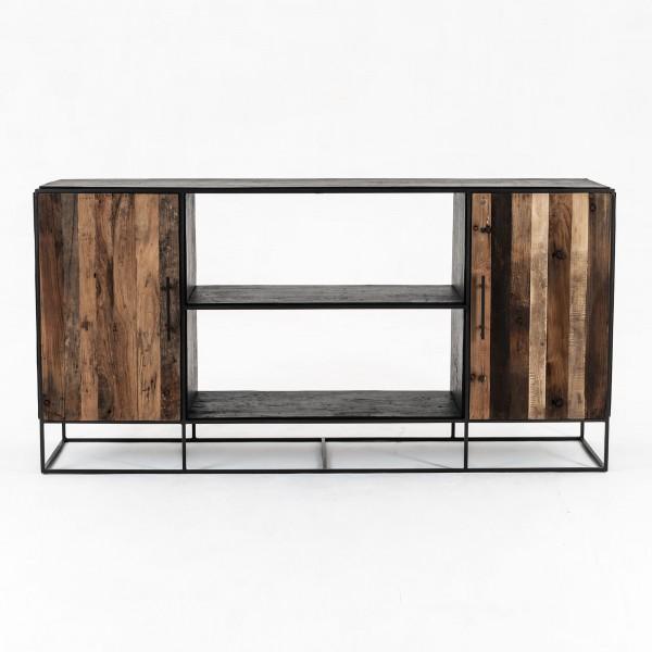 Sideboard Bootsholz Metall 180x90x45cm Massiv