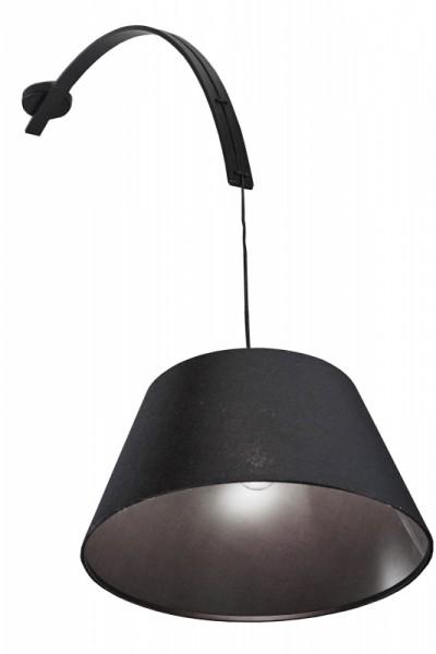 Hängeleuchte 45 x 125 cm schwarz