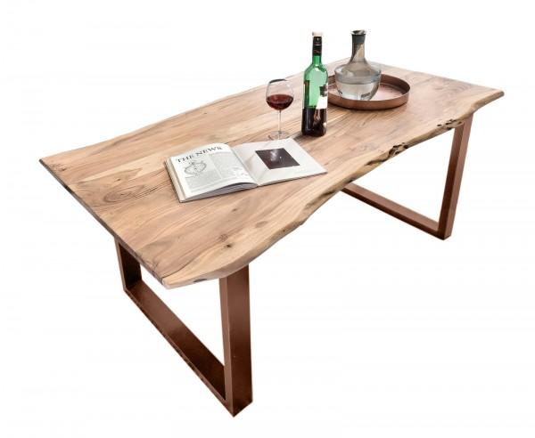 Tisch 100x200cm Akazienholz Natur Antikbraun