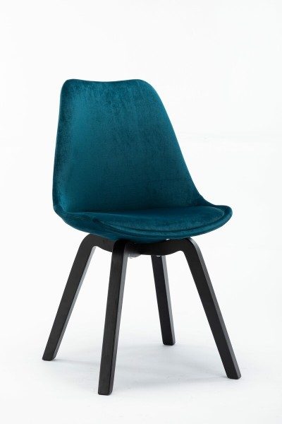 4x Stuhl aus massivem Holz Blau 48x83x54cm