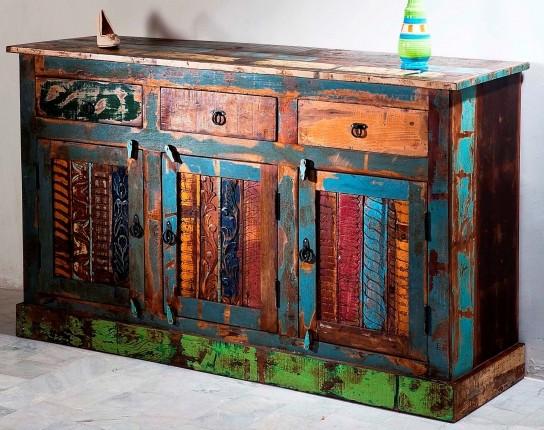Vintage Möbel Sideboard 150x90x45cm Massiv