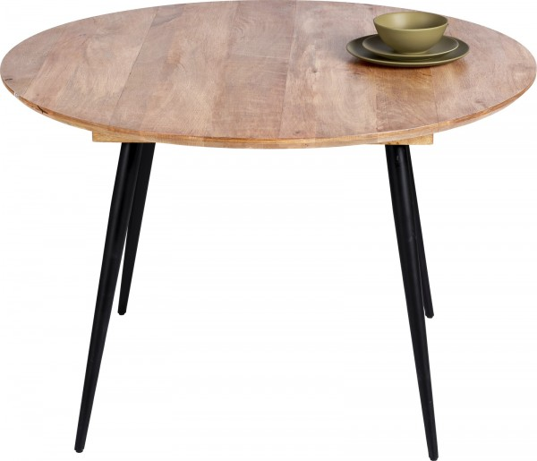 Massivholz Möbel Tisch rund 120x76cm Mangoholz