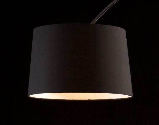 Bogenlampe schwarz 205cm