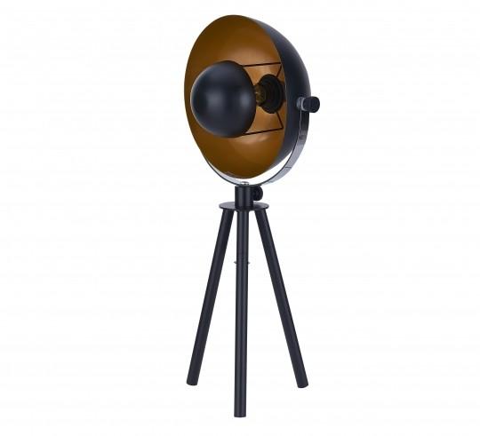 Tischleuchte Schwarz Gestell Metall 23x68x23cm