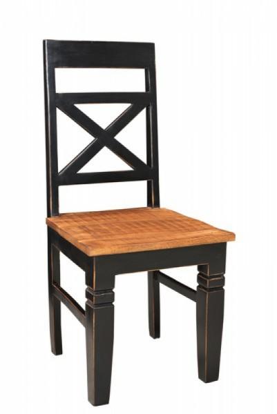 4er Set Kolonial Möbel Stuhl 45x100x45cm Massiv