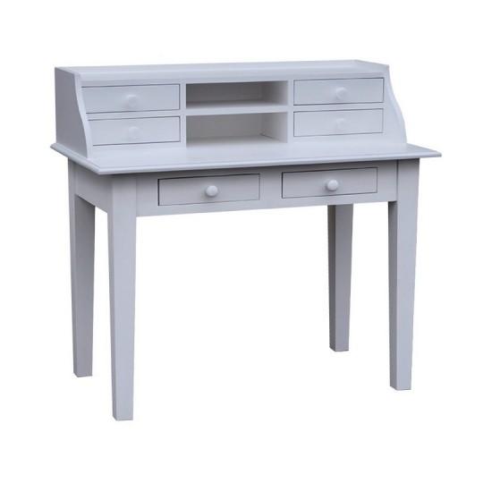 Schreibtisch Weiß Sekretär Massiv 109x102x60cm