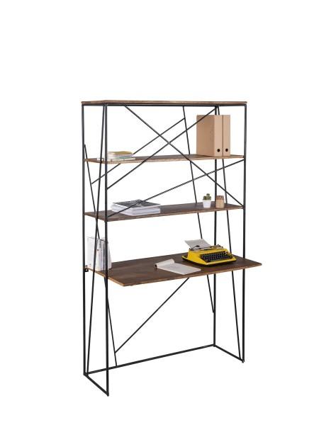 Massivholz Möbel Sekretär 120x202x60cm Mangoholz
