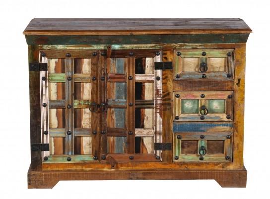 Vintage Massivholz Kommode 110x80x40cm