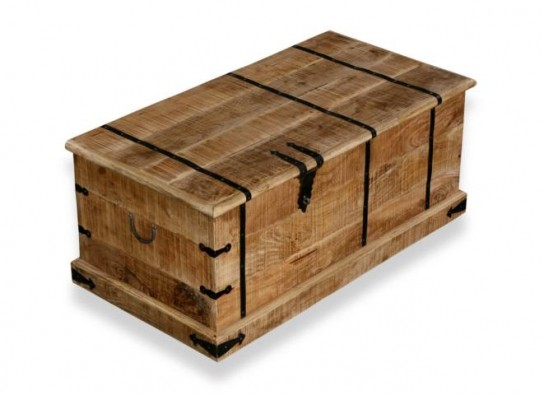 Massivholz Möbel Weinbox Couchtischtruhe 108x45x56cm