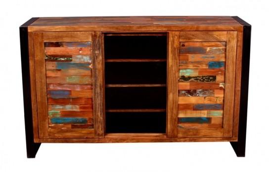 Vintage Massivholz Sideboard 140x85x40cm