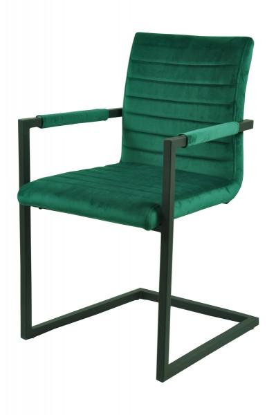 2x Sessel aus massivem Stahl Grün 54,5x88,5x58cm