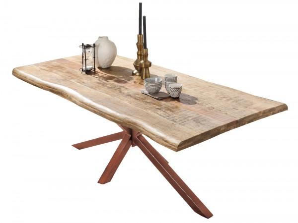Tisch 90x160cm Mangoholz Natur Antikbraun