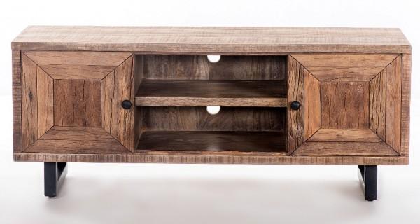 Massivholz Lowboard 130x55x40cm recyceltes Teak