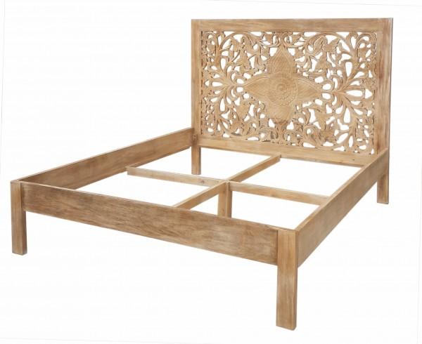 Shabby Chic Möbel Bett 180x200cm Massivholz