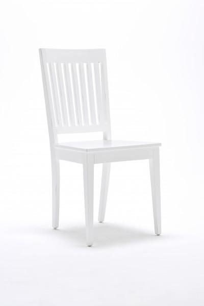 2er-Set Stuhl Weiß 45x96x51cm Mahagoniholz Massiv
