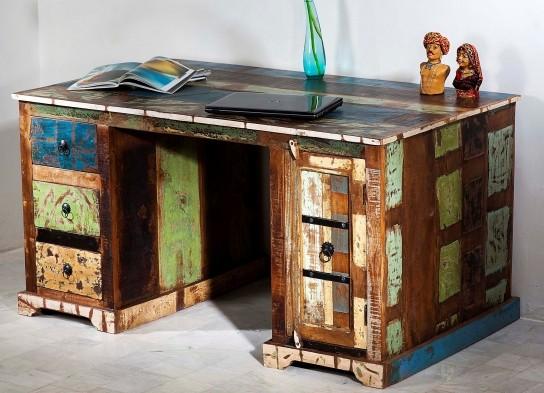 Vintage Schreibtisch Kolonial Möbel 150x76x85cm