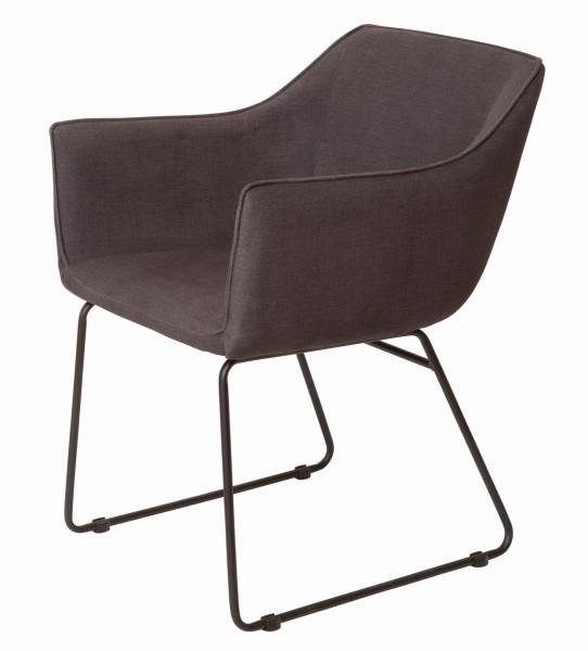 2x Sessel aus massivem Stahl Grau 56x82x61cm