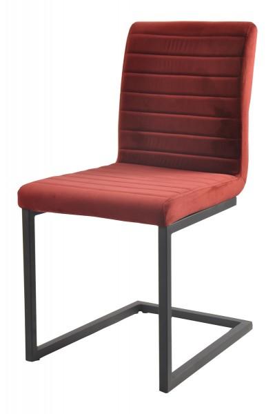 2x Stuhl aus massivem Stahl Rot 56x89x45cm