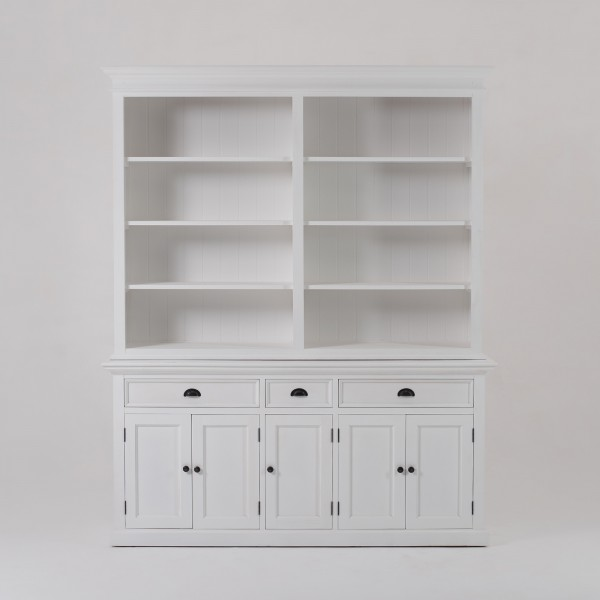 Büffet Schrank Weiß 180x220x50cm Massiv