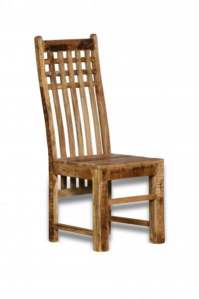 4x Massivholz Möbel Stuhl 45x110x45cm