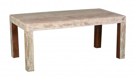 Shabby Chic Möbel Tisch Esstisch 100x200cm Massiv