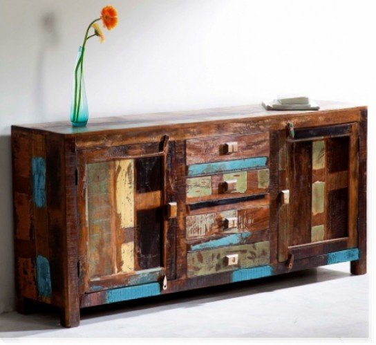 Vintage Möbel Sideboard 170x80x40cm Massiv