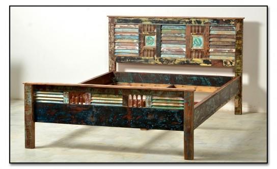 Vintage Möbel Bett 140x200cm Massiv