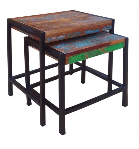 Vintage Möbel Beistelltisch 40x43x32cm 50x60x35cm