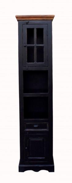 Kolonial Möbel Hochschrank 44x188x35cm Massivholz MDF